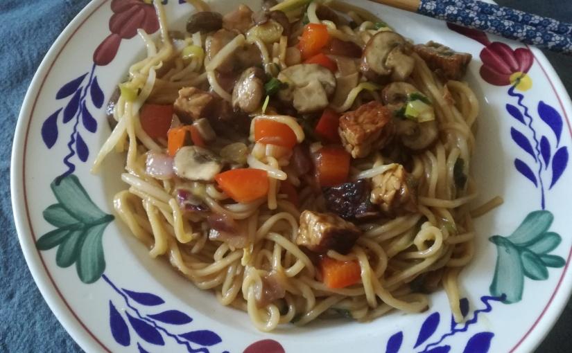 Vegetarische Teriyaki Woknoodles