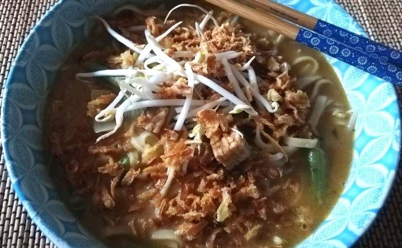 Vegetarische Oosterse Noodlesoep
