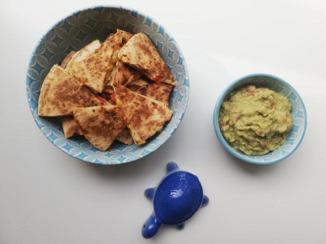 Verrukkelijke quesadillas metguacamole