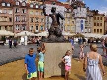 Zeemeermin die Warschau volgens een legende beschermt