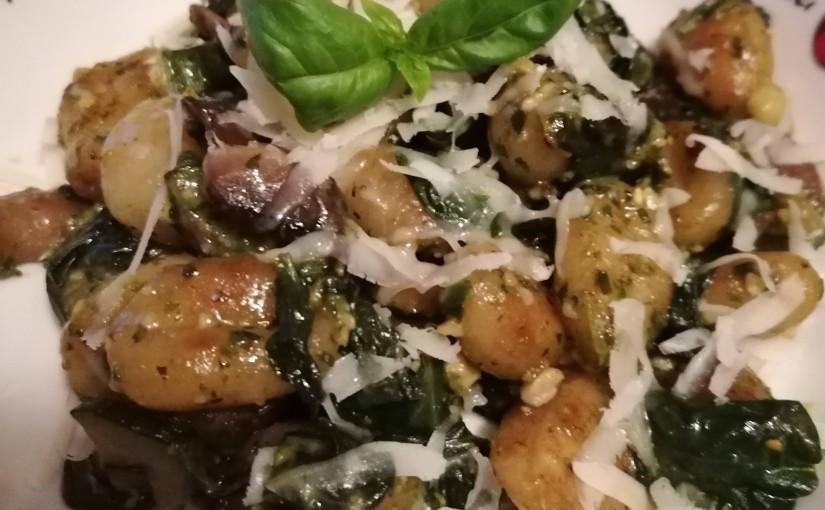 Vegetarische groene Gnocchi