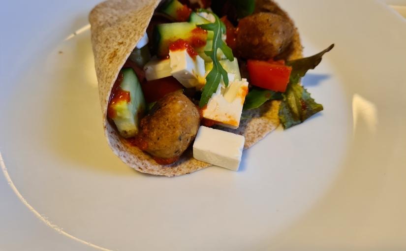 Week zonder vlees:Falafelwrap